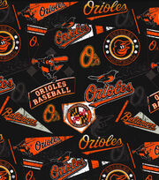 Baltimore Orioles Vintage Cotton Fabric 58''-Vintage, , hi-res