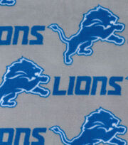 Detroit Lions Fleece Fabric -Gray, , hi-res