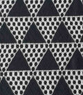 Lace Knit Fabric-Black Triangles