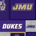 James Madison University Dukes Fleece Fabric-College Patch