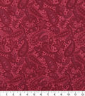 Wide Quilt Cotton Backing Fabric 108\u0022-Garnet Paisley