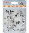 ScrapBerry\u0027s Once Upon A Winter Clear Stamps #1-New Year Wishes