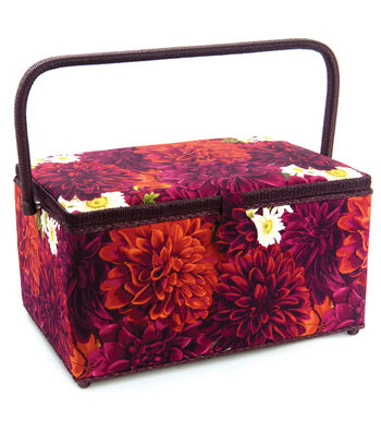 Extra Large Rectangle Sewing Basket-Dahlia