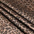 Stretch Faux Suede Fabric-Brown Cheetah Print