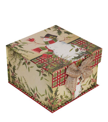 Maker's Holiday Small Mini Fliptop Storage Box-Christmas Stocking