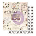 Prima Marketing Spring Farmhouse Foiled Double-sided Cardstock-Wander