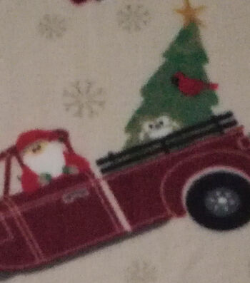 "Anti-Pill Fleece Fabric 59""-Santa Truck"