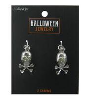 hildie & jo Halloween Charms-Skull Silver, , hi-res