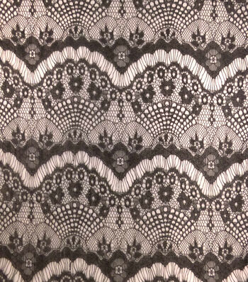 "Casa Collection Lace Fabric 56""-Eyelash Black"