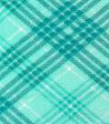 Anti-Pill Fleece Fabric 59\u0022-Blue & Green Plaid