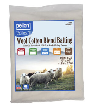 Pellon 50/50 Wool Blend Batting-Twin