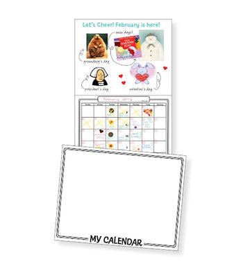 "Make Your Own Calendar Book 11""X8-1/2""-White"