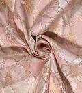 Casa Embellish Gardinia Jacquard Fabric -Rosewater & Gold Floral