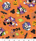 Disney Mickey & Minnie Halloween Cotton Fabric 43\u0022-Feelin\u0027 Spooky