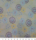 Quilter\u0027s Showcase Cotton Fabric-Large Floral Mint Yellow