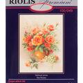 Tea Roses Counted Cross Stitch 11.7\u0022X15.7\u0022 14 Count