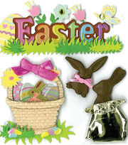 Jolee's Boutique Stickers-Easter Chocolate Bunnies, , hi-res
