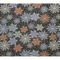 Super Snuggle Flannel Fabric-Multi Snowflakes on Gray