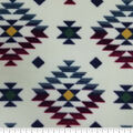 Luxe Fleece Fabric -Bison Cream Aztec