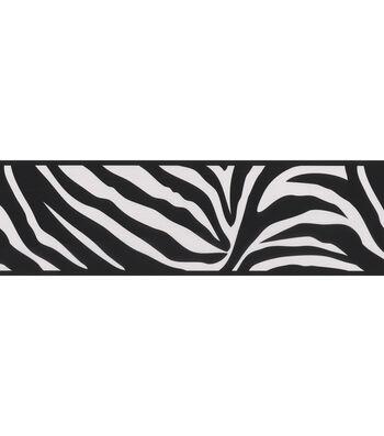 Zebra Crossing Black Zebra Wallpaper Border