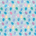 Easter Cotton Fabric-Multi Eggs on Blue
