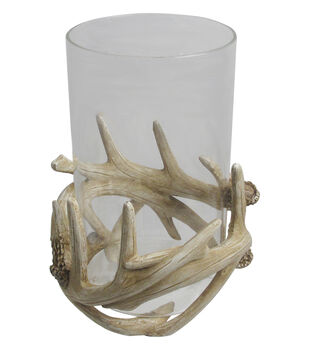 Simply Autumn Antler Candle Holder