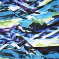 Fast Fashion Knit Fabric-Lagoon Abstract Flow