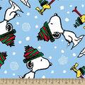 Snoopy Fleece Fabric-Snoopy And Woodstock