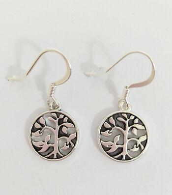 hildie & jo Trees Dangle Metal Silver Earrings