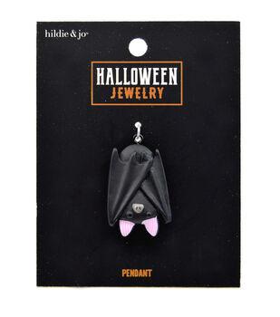 hildie & jo Halloween Jewelry Polyresin Sleeping Bat Pendant