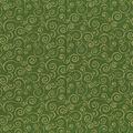 Holiday Cotton Fabric -Green Metallic Scrolls
