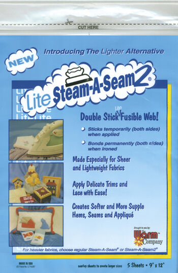 Lite Steam-A-Seam 2 Double Stick Fusible Web 5/pkg
