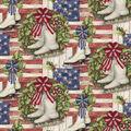 Christmas Cotton Fabric-Skates Allover