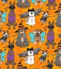 Halloween Cotton Fabric 44\u0022-Dog Costume Party