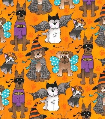 "Halloween Cotton Fabric 44""-Dog Costume Party"