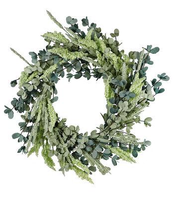 Fresh Picked Spring 22'' Heather & Eucalyptus Wreath