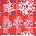 Anti-Pill Plush Fleece Fabric-Snowflake On Sketched Buffalo Check