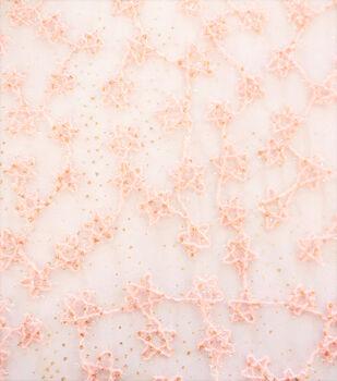 Sew Sweet Embellished Fabric-Celestial Stars