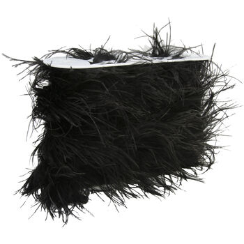 6In Black Ostrich Feather Boa