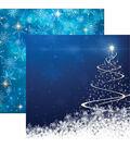 Winter Wonderland Double-Sided Cardstock 12\u0022X12\u0022-Snowflakes Galore