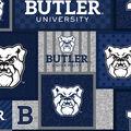 Butler University Bulldogs Fleece Fabric-Patch