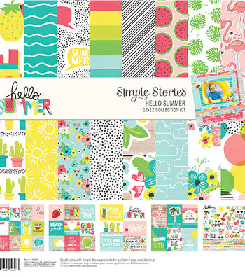Simple Stories Hello Summer 12''x12'' Collection Kit