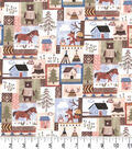 Premium Cotton Fabric 43\u0022-Animals Camping Patch