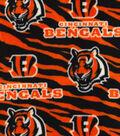 Cincinnati Bengals Fleece Fabric 59\u0022-Striped