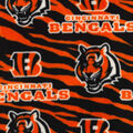 Cincinnati Bengals Fleece Fabric -Striped
