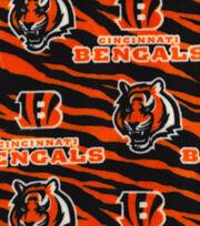"Cincinnati Bengals Fleece Fabric 59""-Striped, , hi-res"