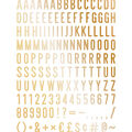 DCWV Home 148 Pack 2\u0027\u0027 Letters-Gold
