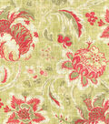 Waverly Lightweight Decor Fabric 54\u0022-Arbor Imagery/Crimson
