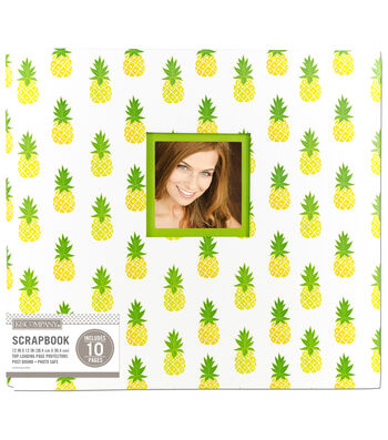 K&Company 12''x12'' Scrapbook with Window-Pineapple Scatter