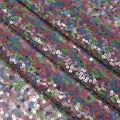Glitterbug Multi Colored Sequins On Mesh Fabric